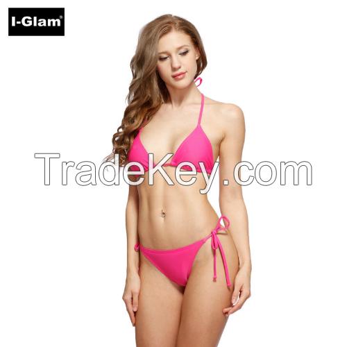 I-Glam Purple Sexy Women Brazilian Bikini Swimwear