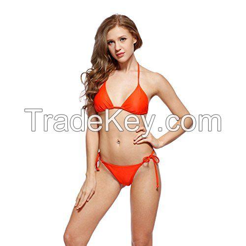 I-Glam Orange Sexy Women Brazilian Bikini Swimwear