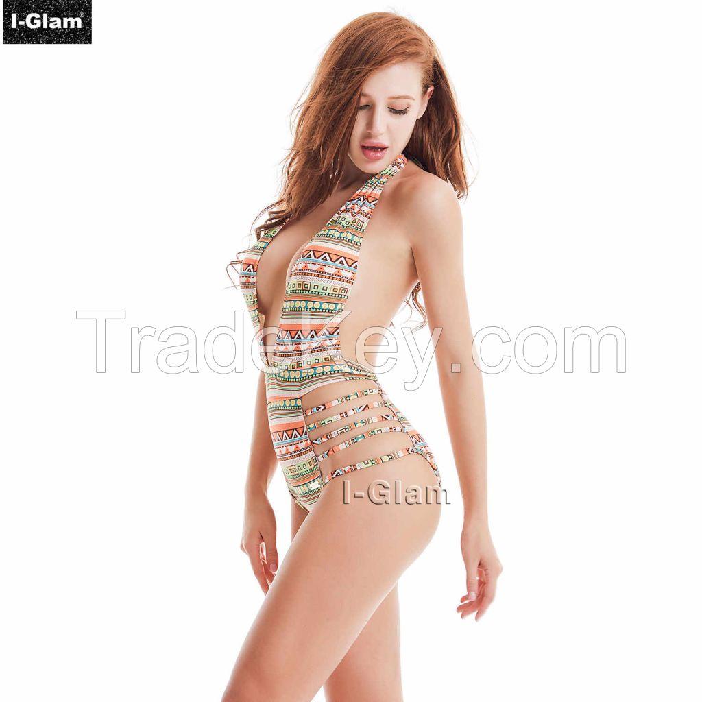 I-Glam One-piece Sexy Printed Bikini Swimwear