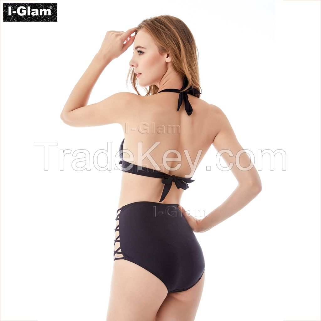 I-Glam Black High Waist Sexy Bikini Swimwear