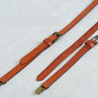 FACTORY PRICE,custom leather suspenders, Trousers Leather Suspenders
