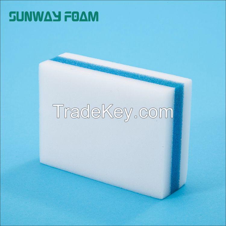 Sunway Wholesale  complex melamine Sponge with PU