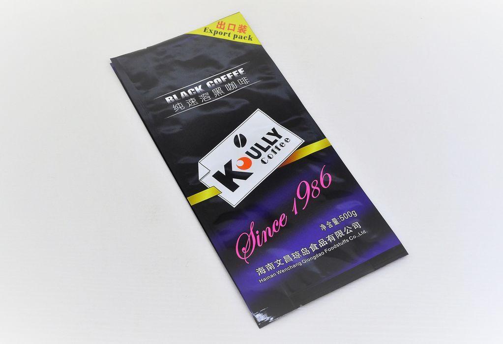 Coffee packaging Matt effect quad-seal side gusset pouch