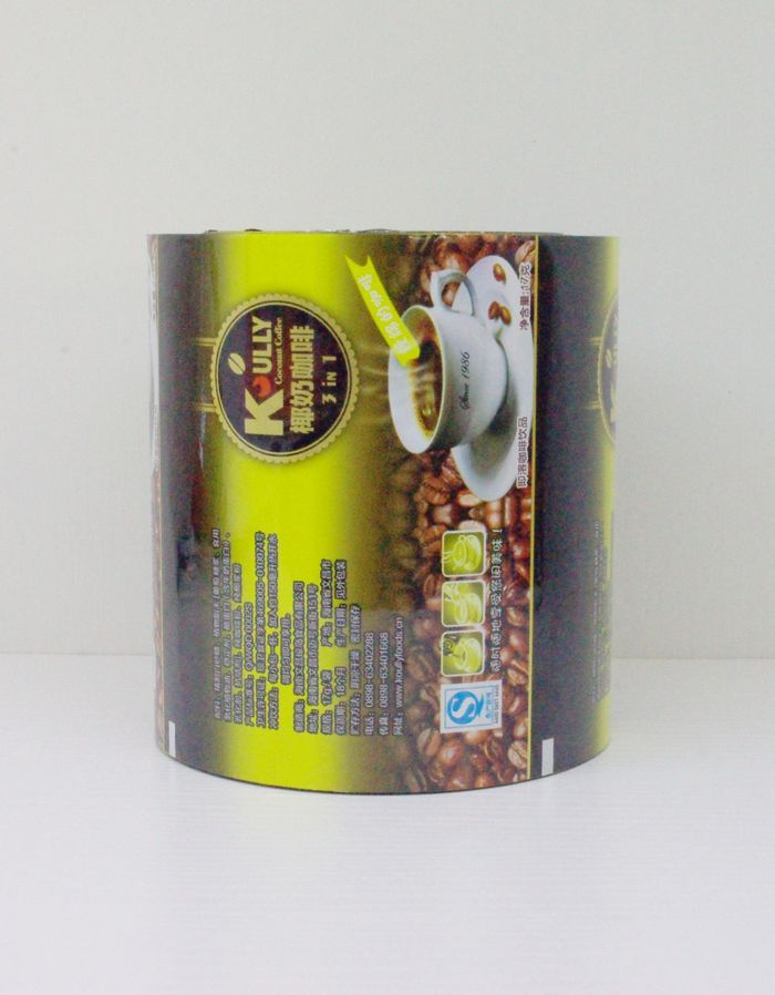 Coffee, milk tea instant drink individual pack automatic packaging film in roll