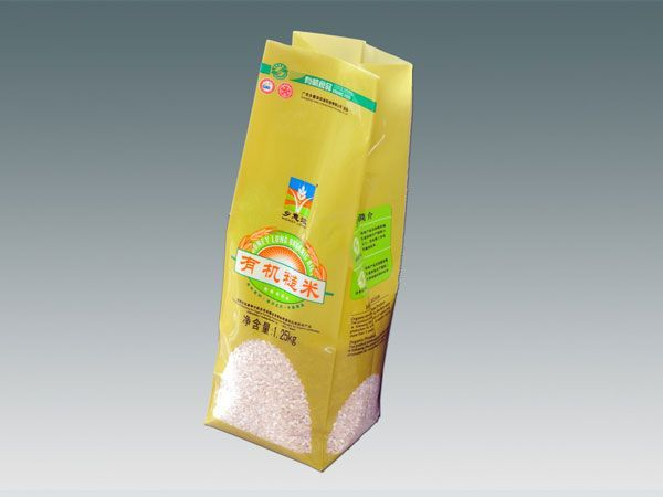 Rice vacuum packaging side gusset pouch