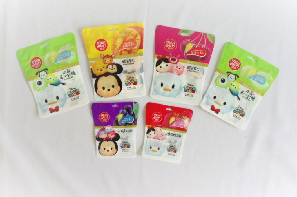 Soft sweets, jelly drops, juice gummy packaging free-shaped stand up zipper pouch