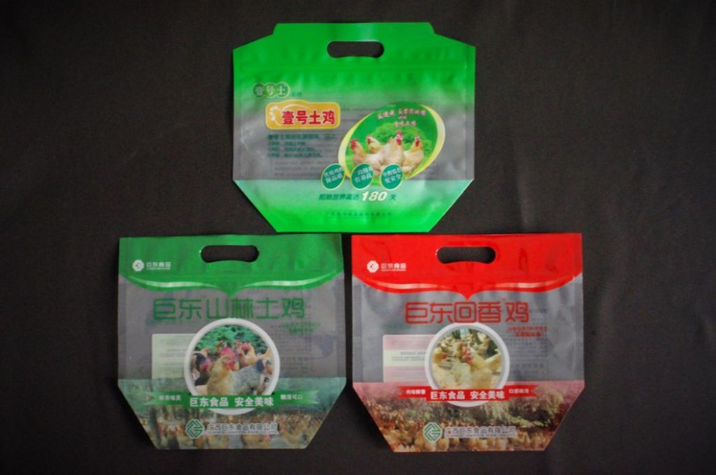 Chicken bag, frozen meat sales packaging flat bottom zipper pouch