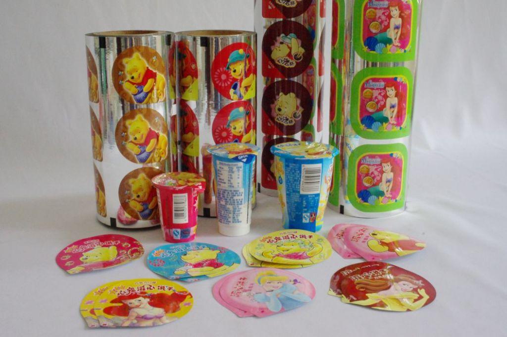 Various lidding film sealing against cups /plates of PE/PP/PS/PET/AL etc.