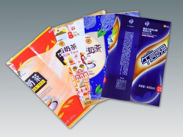 Milk tea beverage bottle, soft drink bottle outer wrap shrink label