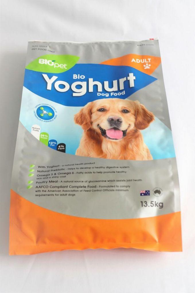 Dog food, pet food heavy-duty packaging matt side-gusset slider zipper pouch