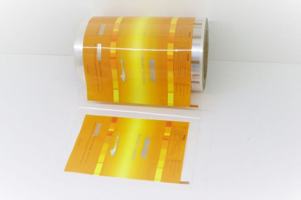 Tissue, paper handkerchief, wet wipe automatic packaging film in roll