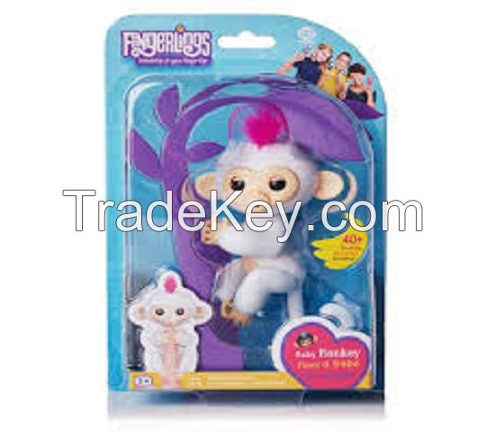 AVAILABLE IN NEW STOCK Fingerlings Baby Interactive Monkey BELLA PINK 6 SET