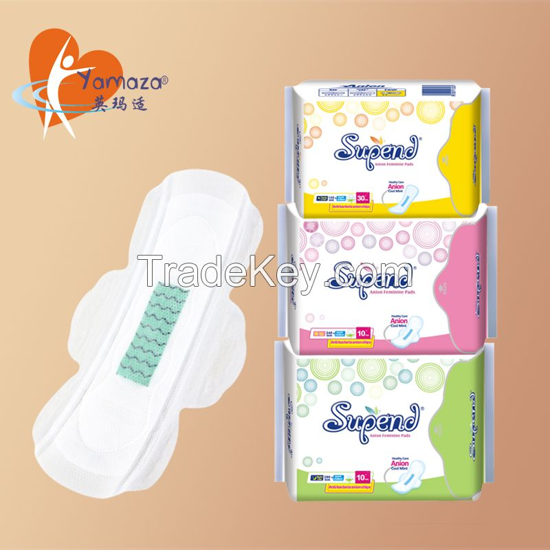 290mm feminine hygiene super absorbent thick with benefits anion menstrual sanitary napkin for overnight use