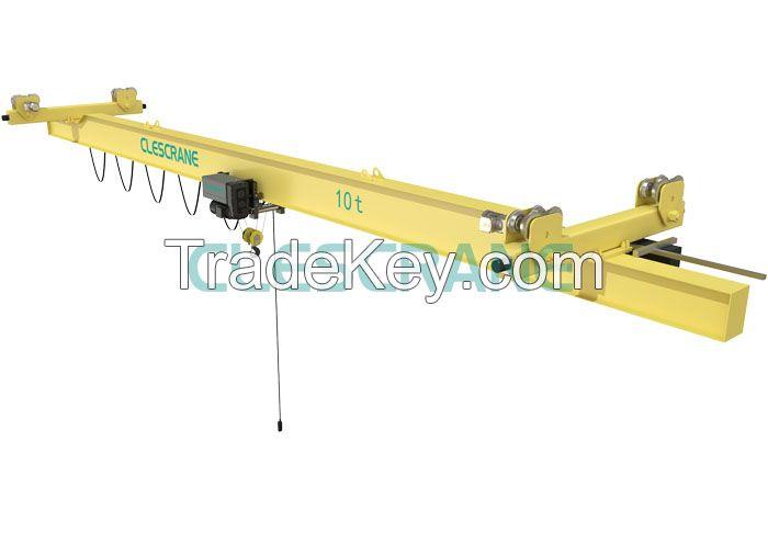 Clescrane electric single girder light suspension bridge crane made in china