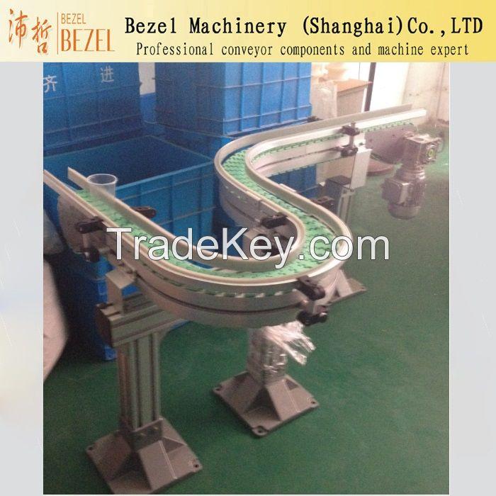 Aluminium Frame Top Chain Conveyor Alum Conveyor Slat Top Chain Convey
