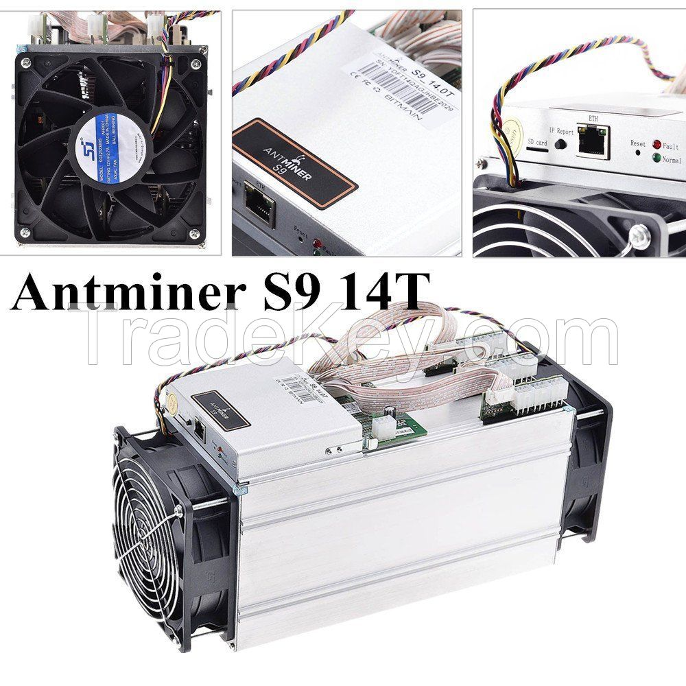 New Offer AntMiner S9 13.5THs with power supply NO RESERVE! SHIPS NOW