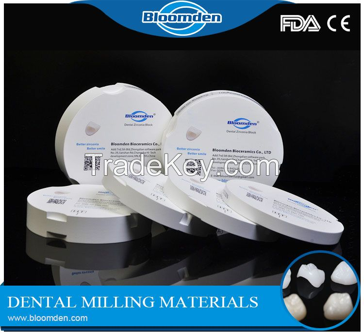Super translucent CAD/CAM 0D98mm zirconia disc