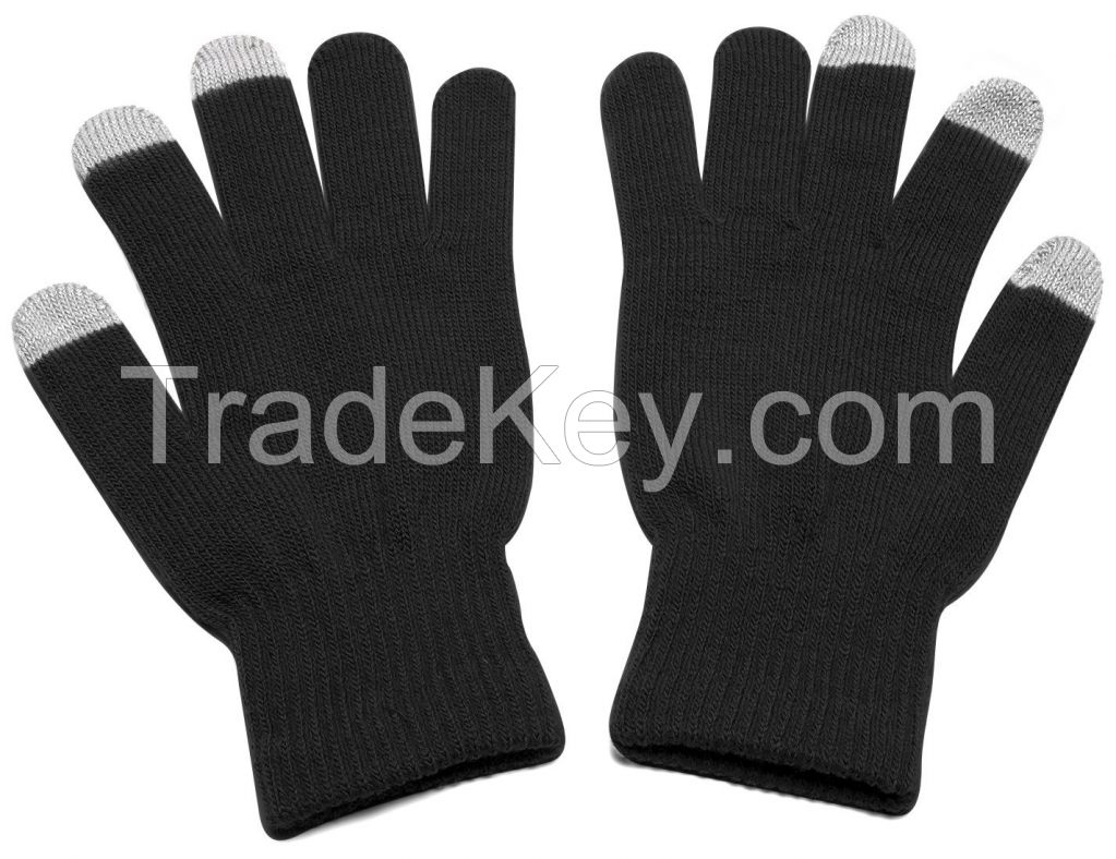 Custom Logo Unisex Magic Acrylic Smartphone Mobile Phone Texting Touchscreen Gloves Touch Screen Glove