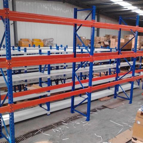 Heavy Duty Warehouse Storage Rack Blue And Orange Selective Pallet Racking System