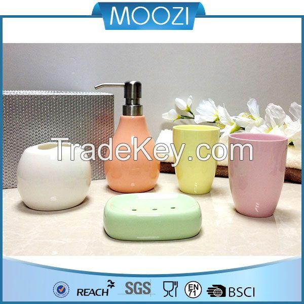 private label home decor oem service ceramic bathroom set