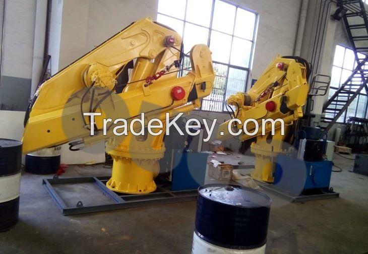 2T folding crane Knuckle Boom Crane Marine Crane Pedestal crane