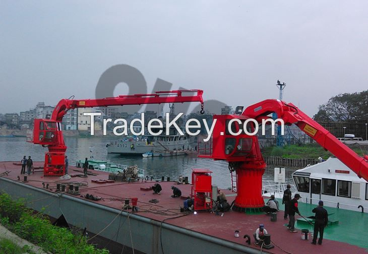 OUCO Hydraulic Provision Crane With Electrical Motor
