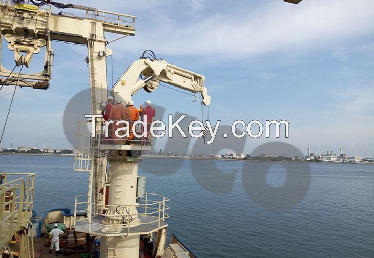 2.5T Foldable Knuckle Boom And Telescopic Compund Hydraulic Crane