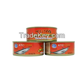 Canned tuna, canned sardine, canned mackerel