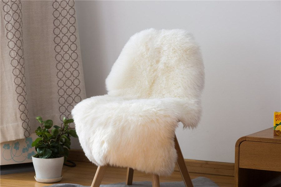 Sheepskin Seat Cushion Genuine Lambskin Fur Rugs