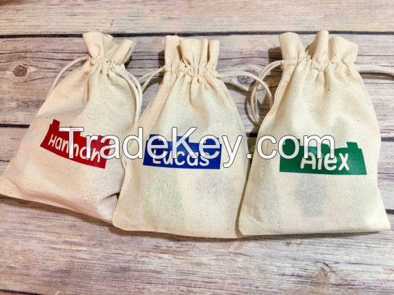 Favor Bag/ Party Favor Bag/ Cotton Gift Bag/ Muslin Bag