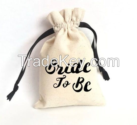 Muslin Bag/ Natural Cotton Muslin Drawstring Bag/ Cotton Pouch