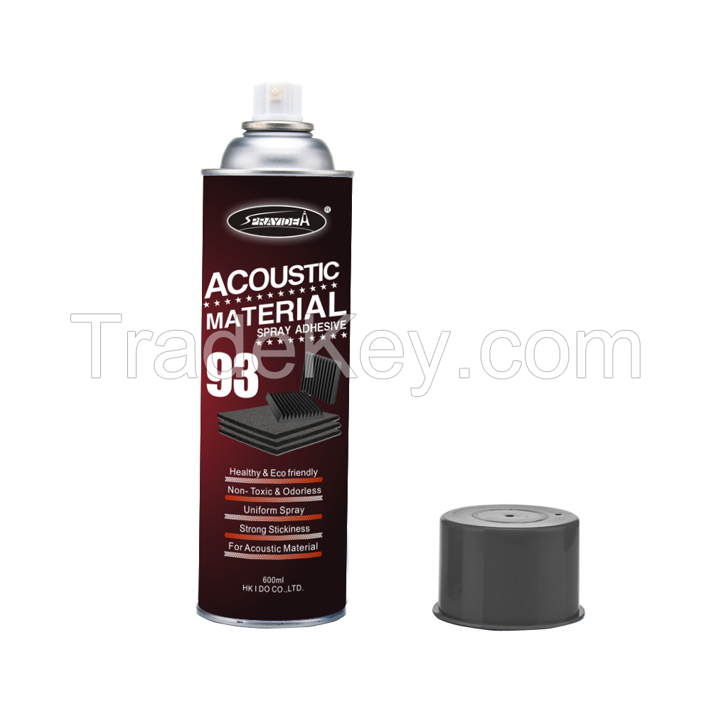 Sprayidea 93 New invention acoustic sponge insulation material spray adhesive