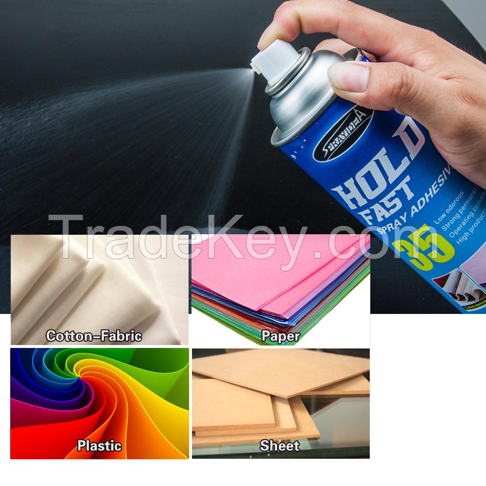 Sprayidea 35 Hold fast light material bonding fast drying spray adhesive
