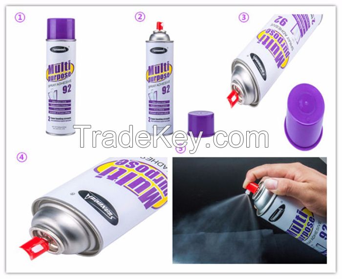 Sprayidea 92 New invention multi-purpose composite and light material spray adhesive