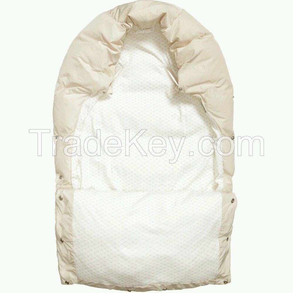 NWT NEW Armani Junior baby girls beige padded nest bunting sleeping bag