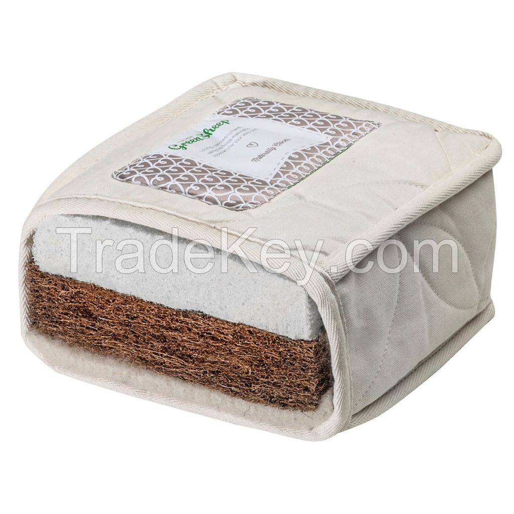 The Little Green Sheep Natural Mattress For Baby Nursery