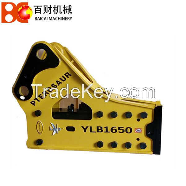 Hydraulic rock hammer for breaking stone and road construction for 30-40 ton excavator