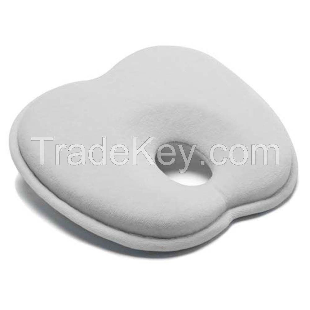 Mije Baby Head Rest Flat Head Pillow White Cot Pram Car Seat Capsule Safe