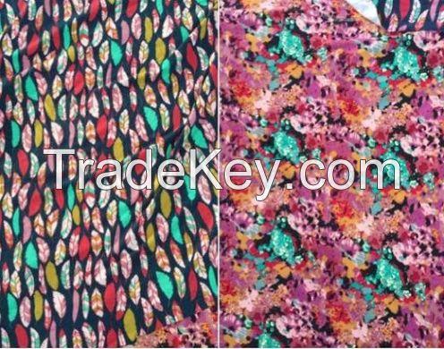 Poly Spandex Print Knit Brushed 180gsm 160cm