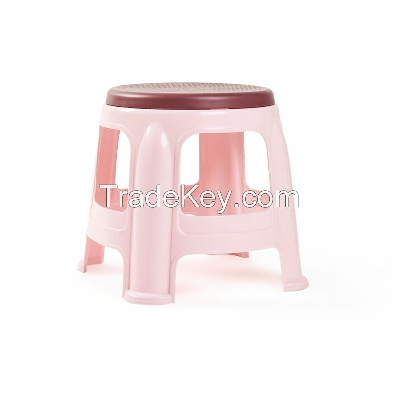 PP children bathroom stool round small plastic stacking stool