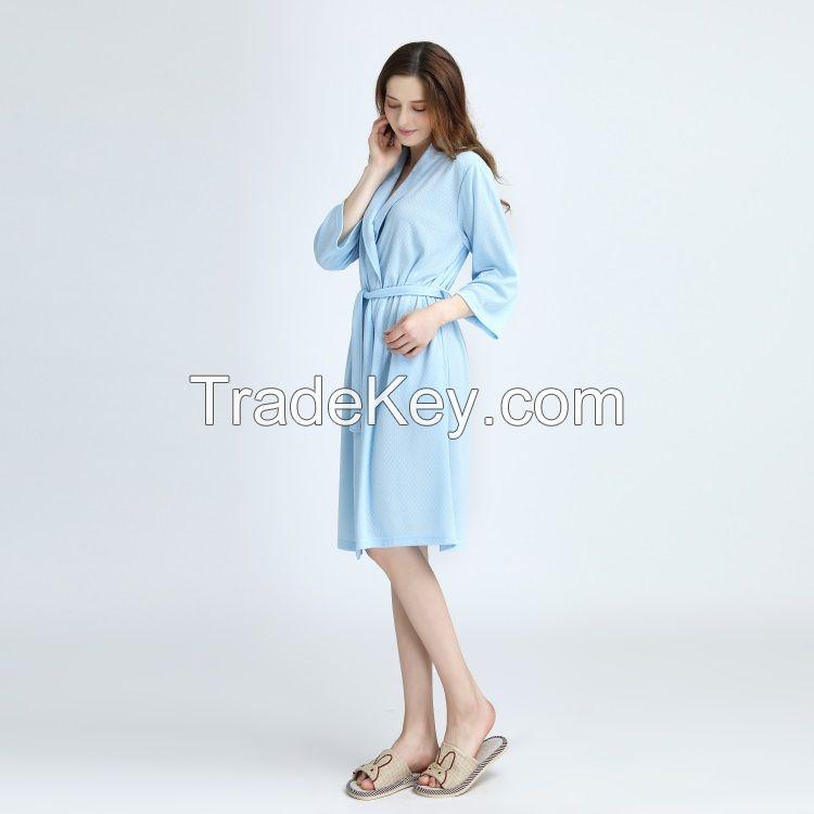 100% Cotton/100%Polyester waffle bathrobe