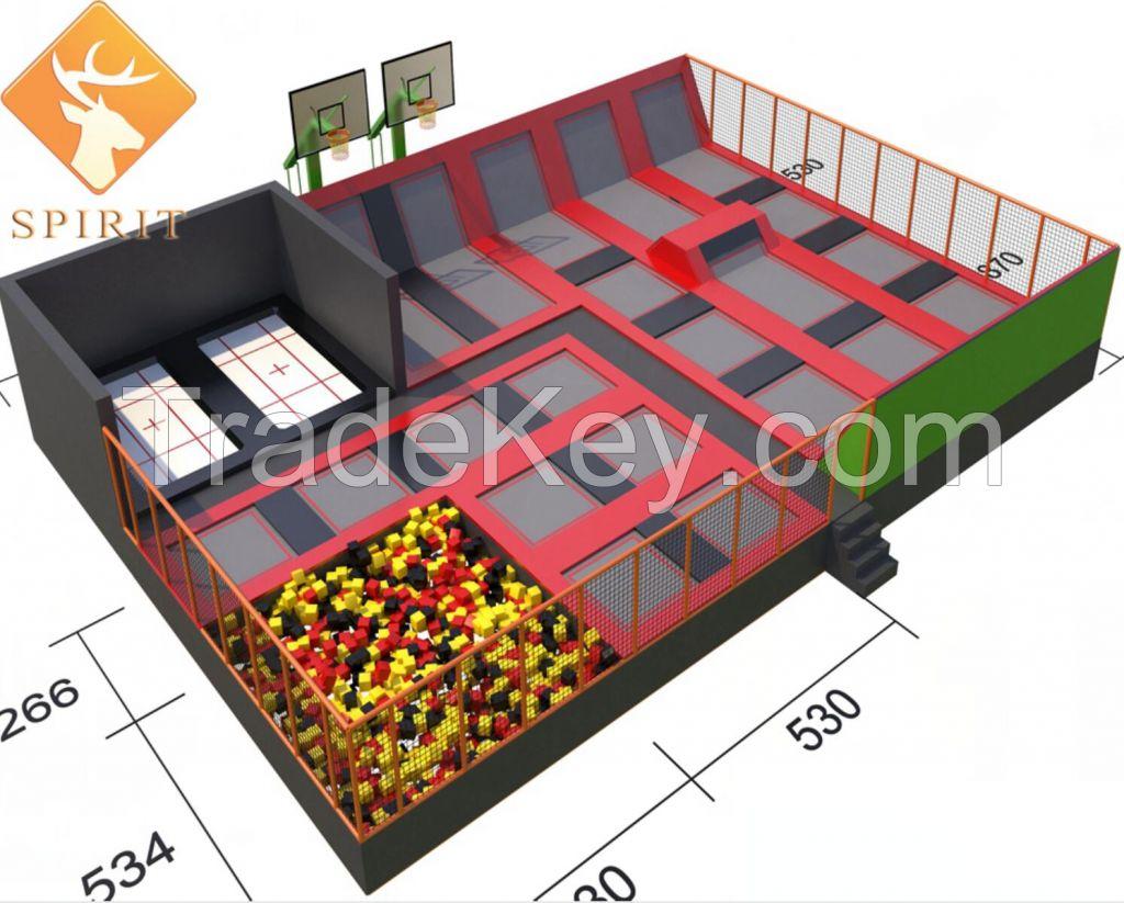 hot selling commercial indoor trampoline park