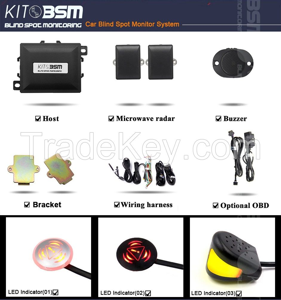 Blind Spot Monitor for Car Safety Driving Change Lane Assistant Product