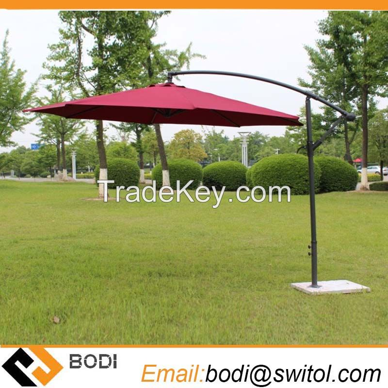 2.7 Meter Steel Iron Promotion Patio Sun Umbrella Garden Parasol Sunshade Outdoor Furniture Covers