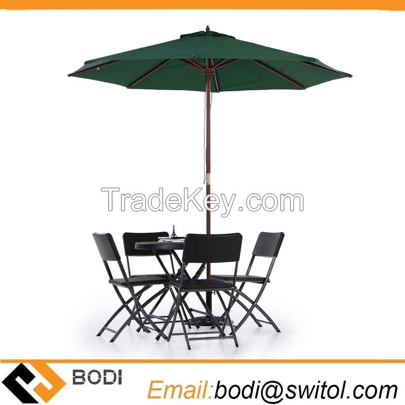 Amazon Ebay Hot Sale Wooden 2.7m Large Patio Table Umbrella Outdoor Cafe Beach Garden Backyard Parasol
