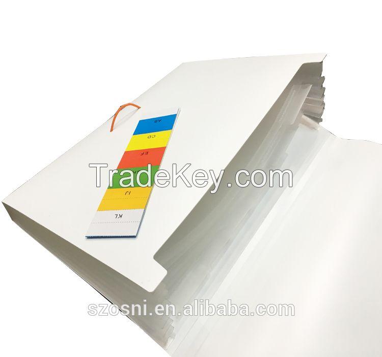 Wholesale high quality A4 plastic PP file folder sheets expanding file folder