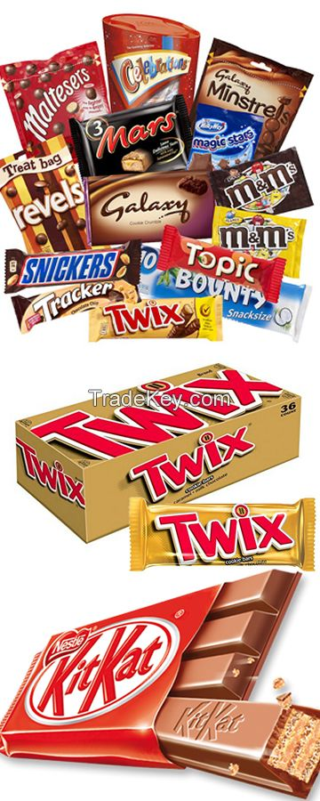 Twix, Snickers, Mars, Bounty, Galaxy Jewels Rev