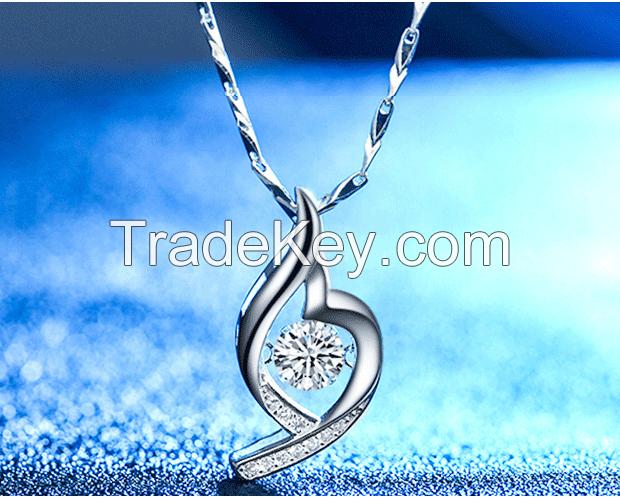Necklace lovers pendant, short collarbone chain jewelry fashion simple Korean birthday present