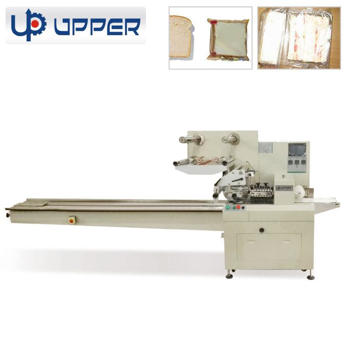 2018 New factory price automatic small biscuit pillow on-edge packing machine