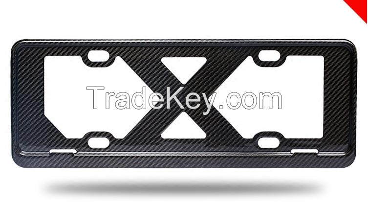 3K twill carbon fiber license frame plate